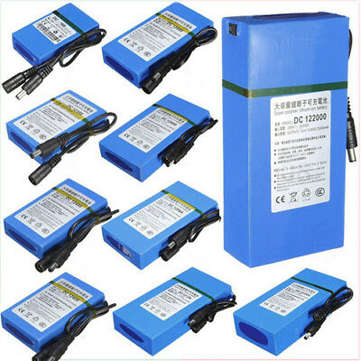 DC 12V 20000mAh Rechargeable Li-ion Battery Batteries Pack - FAST SHIPPING