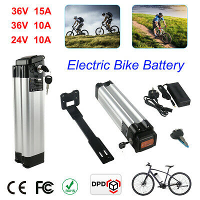36V 15A Li-ion Electric E-Bike Battery Pack 2A Charger Kit Lockable With Keys UK