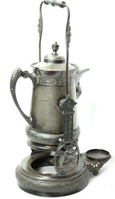 Antique SILVER PLATED MILITARY (R.A) TEA URN c1887 - TORONTO SILVER CO. [P4675]