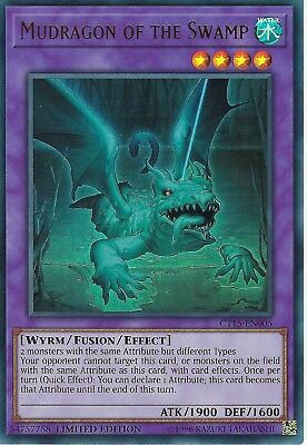 Yu-Gi-Oh: Mudragon of The Swamp - CT15-EN005 - Ultra Rare Card - Limited Edition