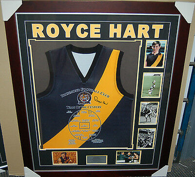 Royce Hart Signed & Framed Richmond Tigers Team Of The Century Jumper