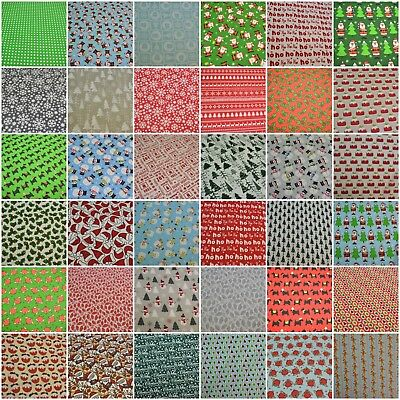 Christmas Festive Polycotton Fabric sold by the metre, half metre or fat quarter