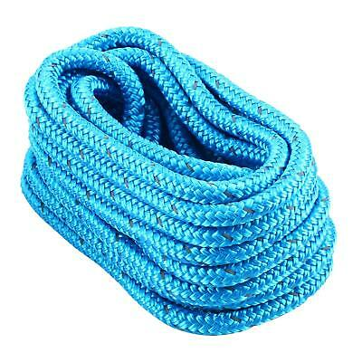 """Amarine-made Blue Double Braid Nylon Dockline 5/8"""" 25 FT with Reflective Tracer"""
