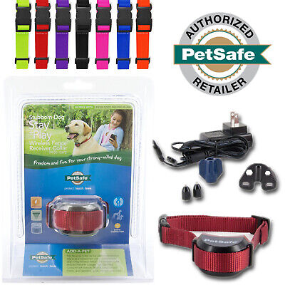 PetSafe Stubborn Wireless Fence Dog Receiver Collar Rechargeable Stay+Play