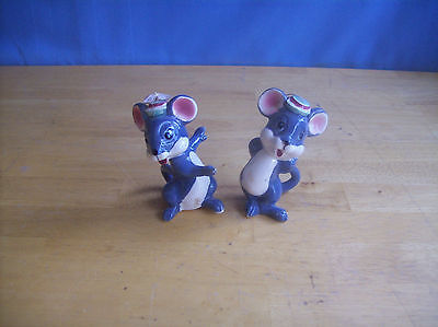 Vintage Set Of 2 Mice Figurines Boy And Girl