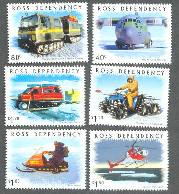 Ross Dependency-Antarctic Transport-(66/71)mnh Tractors-Helicopter  (2000)