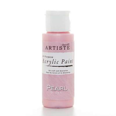 DoCrafts Artiste Pearl Blush Acrylic Craft Paint - 59ml / 2oz Bottle