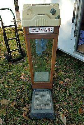 Vintage Coin Operated Watling Scale Penny Fortune Op