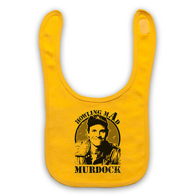 Howling Mad Murdock The A Team Action Tv Unofficial Baby Bib Cute Baby Gift