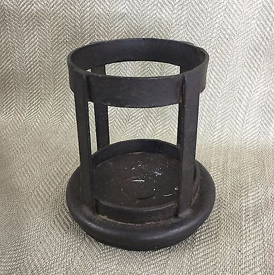 Rustic Candle Holder Cast Iron Metal Shabby Chic Large Hurricane Lamp B