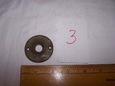 Antique Vintage Cast Iron Door Knob BACK PLATE #3