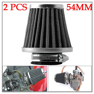 Motorcycle Cafe Racer 54mm High Flow Tapered Chrome Pod Air Filter Cleaner Valid