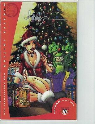 Top Cow Michael Turner's Fathom #3b Monster Mart Christmas Signed Free Shipping