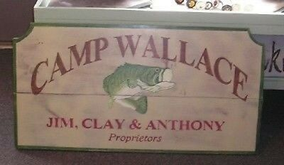 Custom Camp - Fishing- Lodge- Cottage Large Wood Sign, Personalized Large Sign