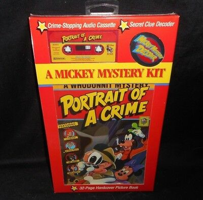 Vintage Disney Mickey Mystery Kit Read Along Story Book & Cassette Tape Sealed