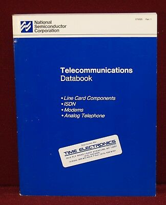 1987 National Semiconductor Telecommunications Databook