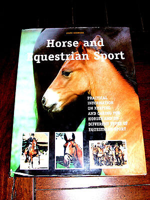 Hardcover BOOK: Horse and Equestrian Sport - Horse Keeping Care Western Riding