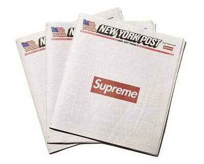 Supreme New York Post Newspaper NY IN HAND SHIPS NOW