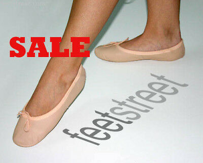 Pink Leather Ballet Shoes with Full Suede Sole Size 12.5 up to Adult 9.5