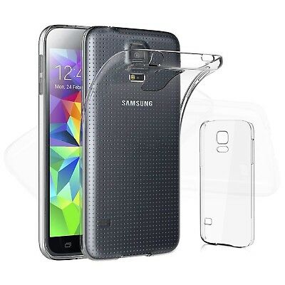 Cover Custodia in Silicone TPU Gel Trasparente per Samsung Galaxy S5 / S5 Mini