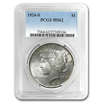 1924-S Peace Dollar MS-62 PCGS - SKU #11585