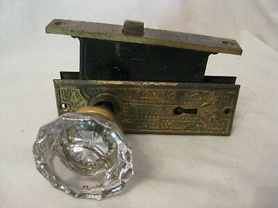 ornate antique door back plates 12 sided glass door knobs knob plate lock set