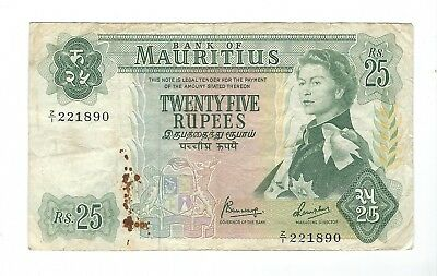 Mauritius - Twenty Five (25) Rupees, 1967 !!Replacement!!