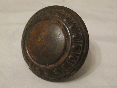 single antique door knob ornate Victorian bronze or brass handle ornate metal