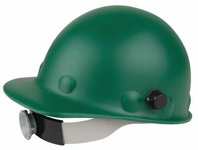 Front Brim Hard Hat, 8 pt. Ratchet Suspension, Green, Hat Size: 6-5/8 to 7-1/2