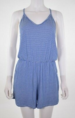 f5ee957ba3cd Rolla Coster Women s Romper Striped Spaghetti Straps Pocketed Size L