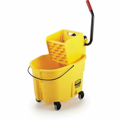 RUBBERMAID WaveBrake Mop Bucket/Wringer System - 35-Quart Capacity - Side