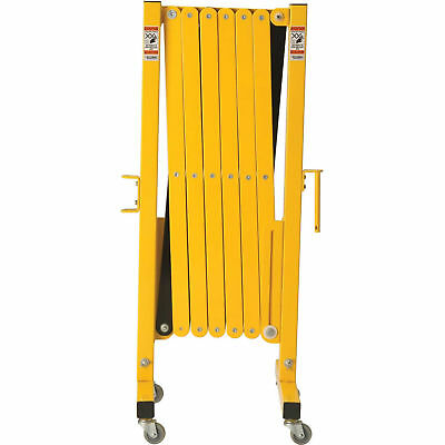 "16 to 141""W Steel Portable Barricade Gate With Casters, Lot of 1"