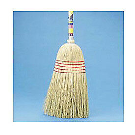 "Mixed Fiber Bristles Maid Broom , 42"" Wood Handle, Lot of 1"