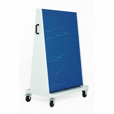 """Perfo-Tool Trolley, 3 Perfo Panels - 3 Louvered Panels, 39x18x63"""", Lot of 1"""