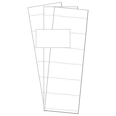 MasterVision Data Card Replacements, White, 500/Pack, Lot of 1