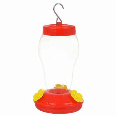 Garden Collection Plastic Hanging Hummingbird Feeder 6.75 Inches w