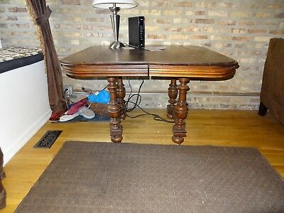 Antique solid  walnut table from 1890's