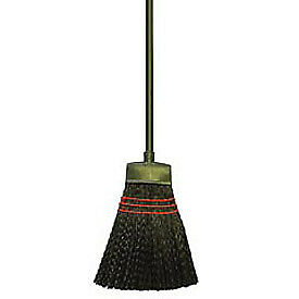 Plastic Bristles Maid Broom, Light-Duty, Lot of 1