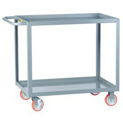 "Little Giant All Welded Service Cart, 2 Lip Shelves, 32""L x 18""W x 35""H, Lot of"