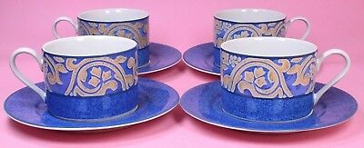 Bhs Seville Four Tea Cups And Saucers