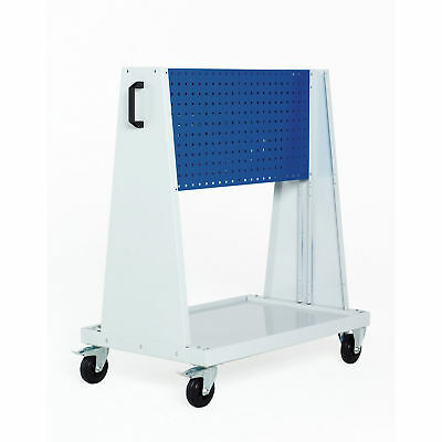 """Perfo-Tool Trolley, 1 Perfo Panel each side, 39x18x47"""", Lot of 1"""