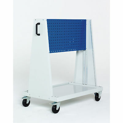 """Perfo-Tool Trolley, 1 Perfo Panels - Louvered Panel, 39x18x47"""", Lot of 1"""