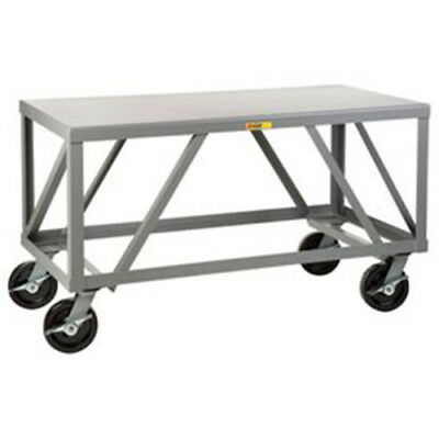 "Little Giant Extra Heavy-Duty 7 Gauge Mobile Table, 72""L x 36""W x 34""H, Lot of 1"