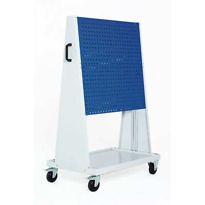 """Perfo-Tool Trolley, 2 Perfo Panels/Side, 39x18x63"""", Lot of 1"""