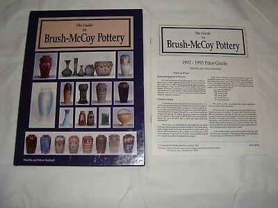 GUIDE TO BRUSH-McCOY POTTERY by SANFORD HARDBACK BOOK 1992 w/Price Guide