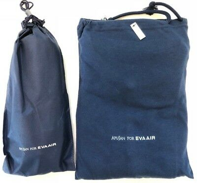 Apujan EVA Air Royal Laurel Business Class Pajama & Slipper Set (L) Large, Blue