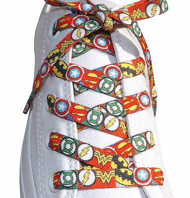 Marvel & DC Comic Books Super Hero Shoelaces For Boys Mens Trainers Novelty Gift