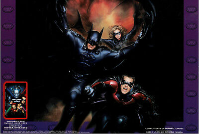 1997 Batman and Robin, Duracell 12x16 VHS Release Poster, Clooney, O'Donnell...
