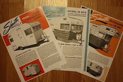 Shasta Vintage Camper Travel Trailer 7 Flyers Ads Copy