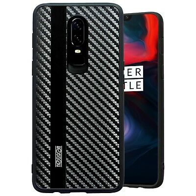 OnePlus 6 Noziroh Carbon Cover Case + Tempered Glass Curved 3D Full Edge Rugged